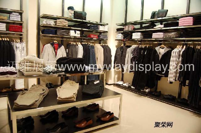 展柜图片,服装展柜公司,商业展厅设计