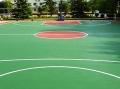 天津薊縣彈性球場面漆運動場面層建設
