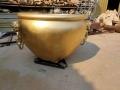 鑄銅花紋銅缸庭院別墅純銅缸定制鑄鐵戶外