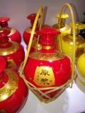 红色原浆陶瓷酒瓶2斤 定做白酒瓶厂 5斤装酒坛子批发