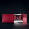 广州义统包装 守真半字版红色2+1双马口铁随身太空罐茶叶礼盒