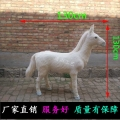 大型仿真马 真皮马标本 马车假马模型