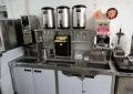 深圳奶茶店设备奶茶原料奶茶店机器设备 水吧台工作台带冷藏操作