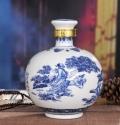 盐城陶瓷酒坛100斤厂家定做 青花陶瓷酒缸50斤批发