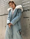 北京清仓特价呢子大衣秋冬加厚毛呢外套长款大衣处理