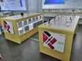 开放式华为5G体验店收银台 受理台配件柜测量制作
